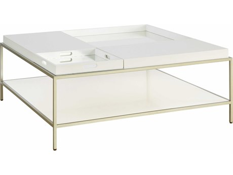 Palliser Case Goods Delany Low-Sheen Ivory 42'' Square Coffee Table CX860060