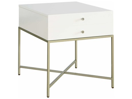 Palliser Case Goods Delany Low-Sheen Ivory 27'' x 23'' Rectangular End Table CX860020