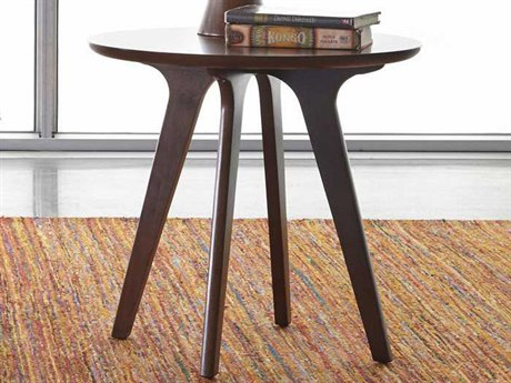 Palliser Case Goods Oslo Clear & Mid-Toned Walnut 24'' Round End Table CX852020