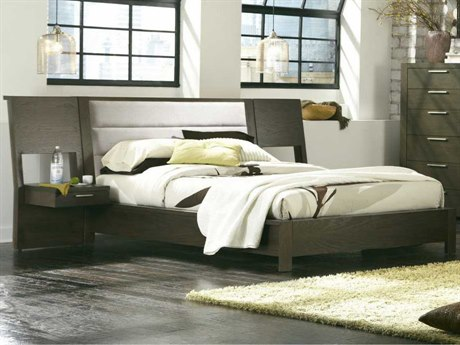 Palliser Case Goods Montreal King Upholstered Platform Bed with Panel Nightstands