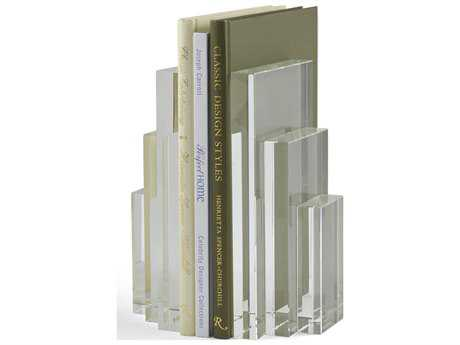 Chelsea House Clear Crystal Bookends