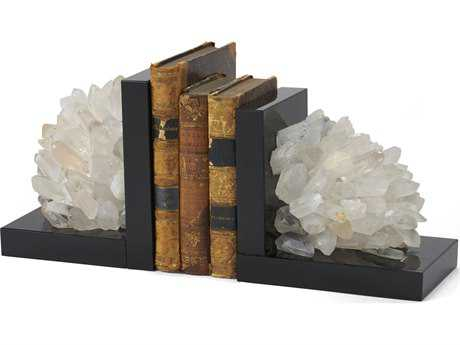 Chelsea House Crystal Rock & Black Bookends CH383272