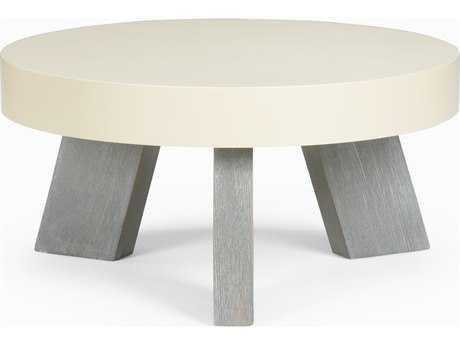 Chelsea House Lakewood White & Gray 24'' Wide Round Coffee Table CH383297
