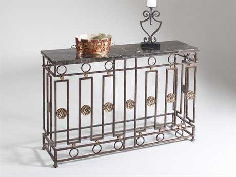 Chelsea House Albert Brown with Gold Accents 48''L x 14''W Rectangular Console Table CH380073