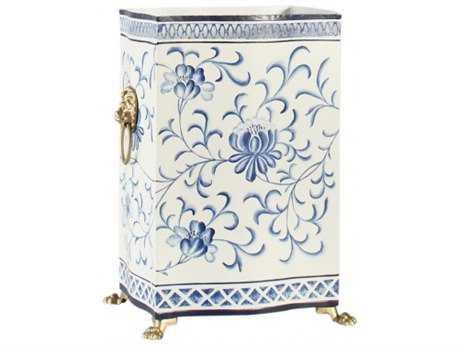 Chelsea House Blue & White Wastebasket