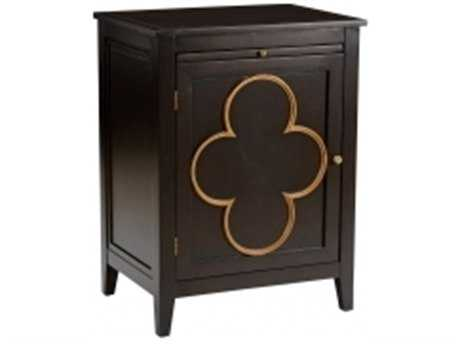 Chelsea House Quatrafoil Black with Brown Right Chest