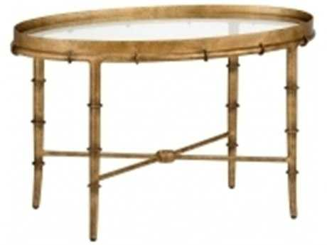 Chelsea House Bamboo Antique Gold Cocktail Table CH380040