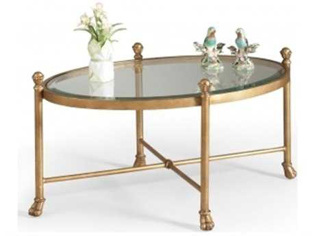 Chelsea House Gordon Oval Antique Gold Cocktail Table CH380087