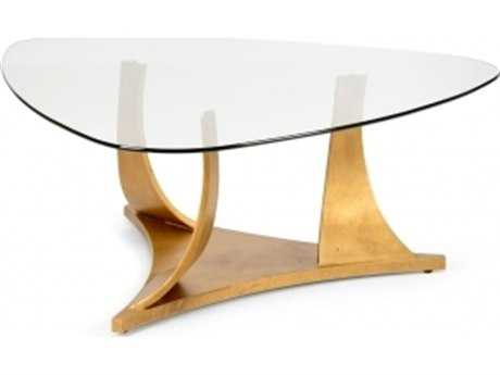 Chelsea House Swirl 47 x 18 Gold Coffee Table CH382808