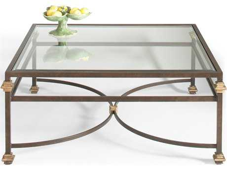 Chelsea House Collar Bronze with Gold Accent 43'' Wide Square Coffee Table CH380088