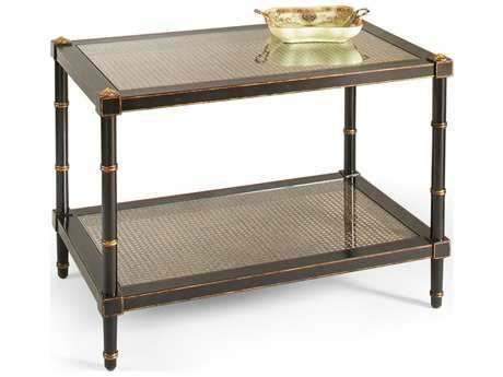 Chelsea House Conner Black with Gold Accent 32''L x 20''W Rectangular Cocktail Table CH380093
