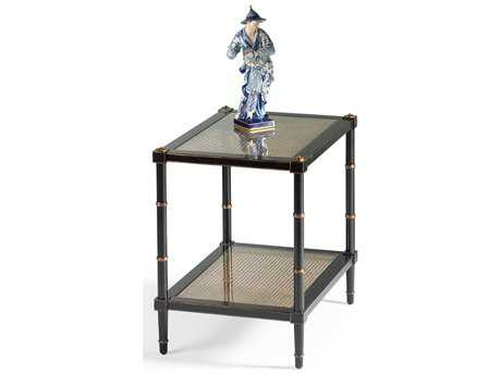 Chelsea House Conner Black with Gold Accent 26''L x 20''W Rectangular End Table CH380100
