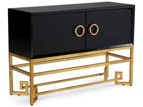 Chelsea House Decker Black and Gold Accent Cabinet CH382745