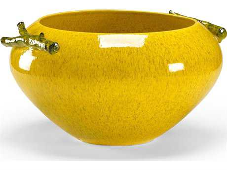 Chelsea House Yellow Wool Garden Decorative Bowl CH381879