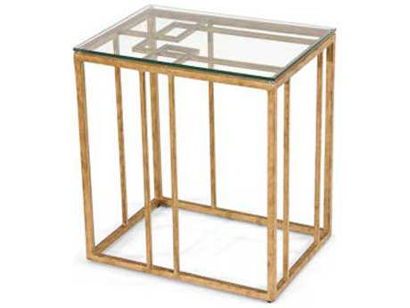 Chelsea House Geometric Antique Gold Accent Table CH381357