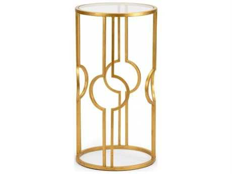 Chelsea House Ring Round Antique Gold End Table