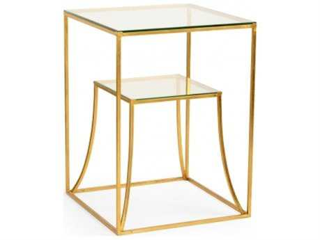 Chelsea House Elgin 20 x 20 Square Gold End Table