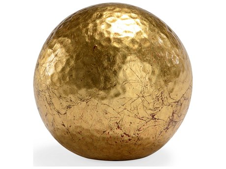 Chelsea House Hammered Small Gold Ball Decorative Accent
