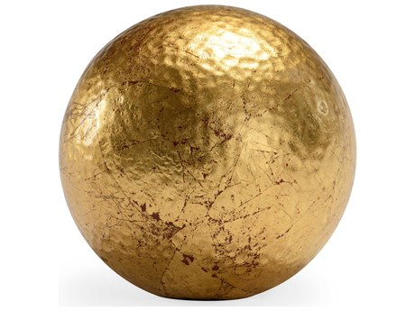 Chelsea House Hammered Medium Gold Ball Decorative Accent