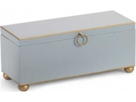 Chelsea House Pastel Blue Rectangular Accent Box CH380661