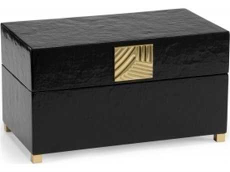 Chelsea House Olson Black Crackle Jewelry Box CH382896