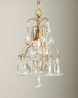 Chelsea House Temple Crystal Flowers Mini Chandelier CH68000