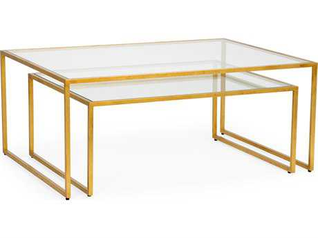 Chelsea House Nested Gold Leaf 48''L x 36''W Rectangular Nesting Table CH382769