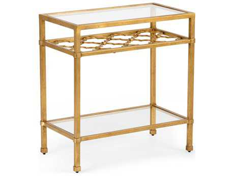 Chelsea House Pacific Antique Gold 22''L x 12''W Rectangular End Table CH382297