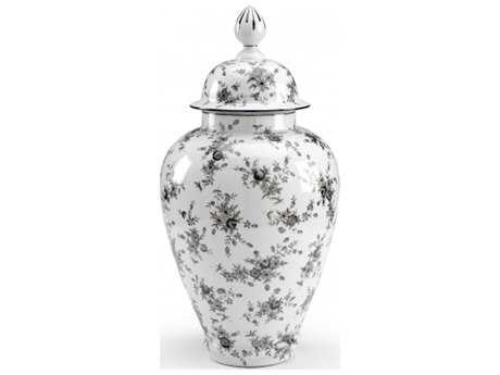Chelsea House Cabbage Rose Porcelain Large Vase