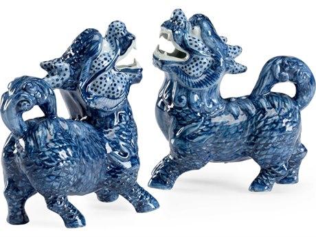 Chelsea House Blue / White Glaze Hand Painted Sculpture