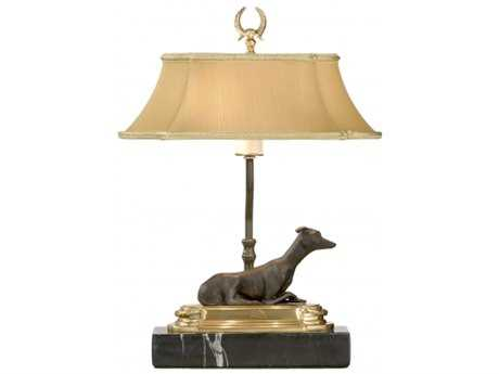 Chelsea House Greyhound Bronze Bookcase Lamp CH68067