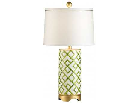Chelsea House Bamboo Squares Gold Table Lamp CH68562