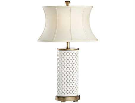 Chelsea House White Ceramic Walker Table Lamp CH68676