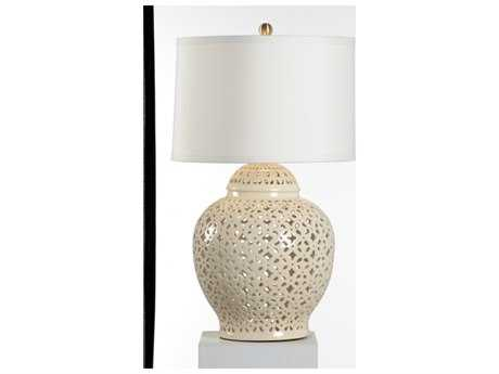 Chelsea House Pierced Cream Table Lamp CH69030