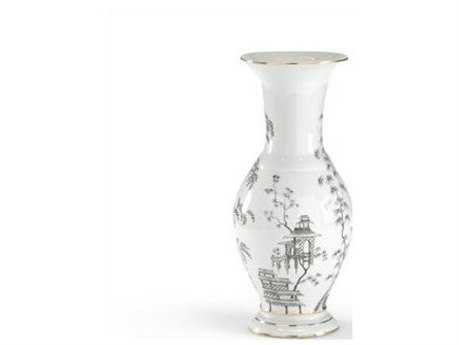 Chelsea House Black & White 15.75'' Chinoisserie Urn CH381726