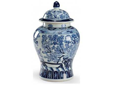 Chelsea House Floral Covered Blue And White Porcelain Urn CH382367