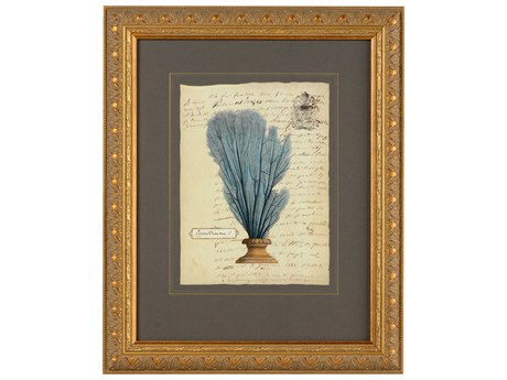 Chelsea House Manuscript Fan Tail Coral I Wood Wall Art
