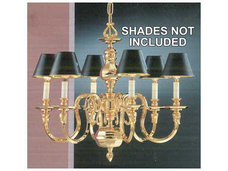 Classic Lighting Corporation Williamsburgs 24k Gold Six-Light 25'' Wide Chandelier C85826