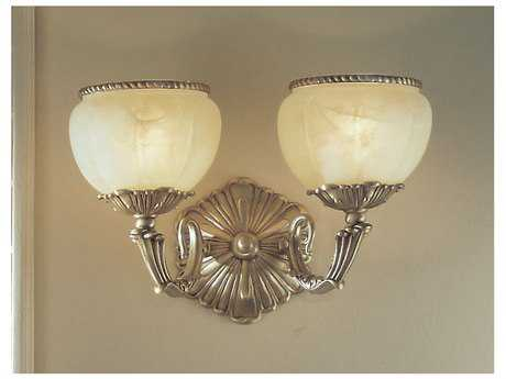 Classic Lighting Corporation Alexandria II Victorian Two-Light Wall Sconce C869502SBB