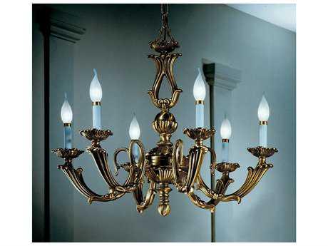 Classic Lighting Corporation Alexandria III Victorian Bronze Six-Light 23'' Wide Chandelier C869406VBZ