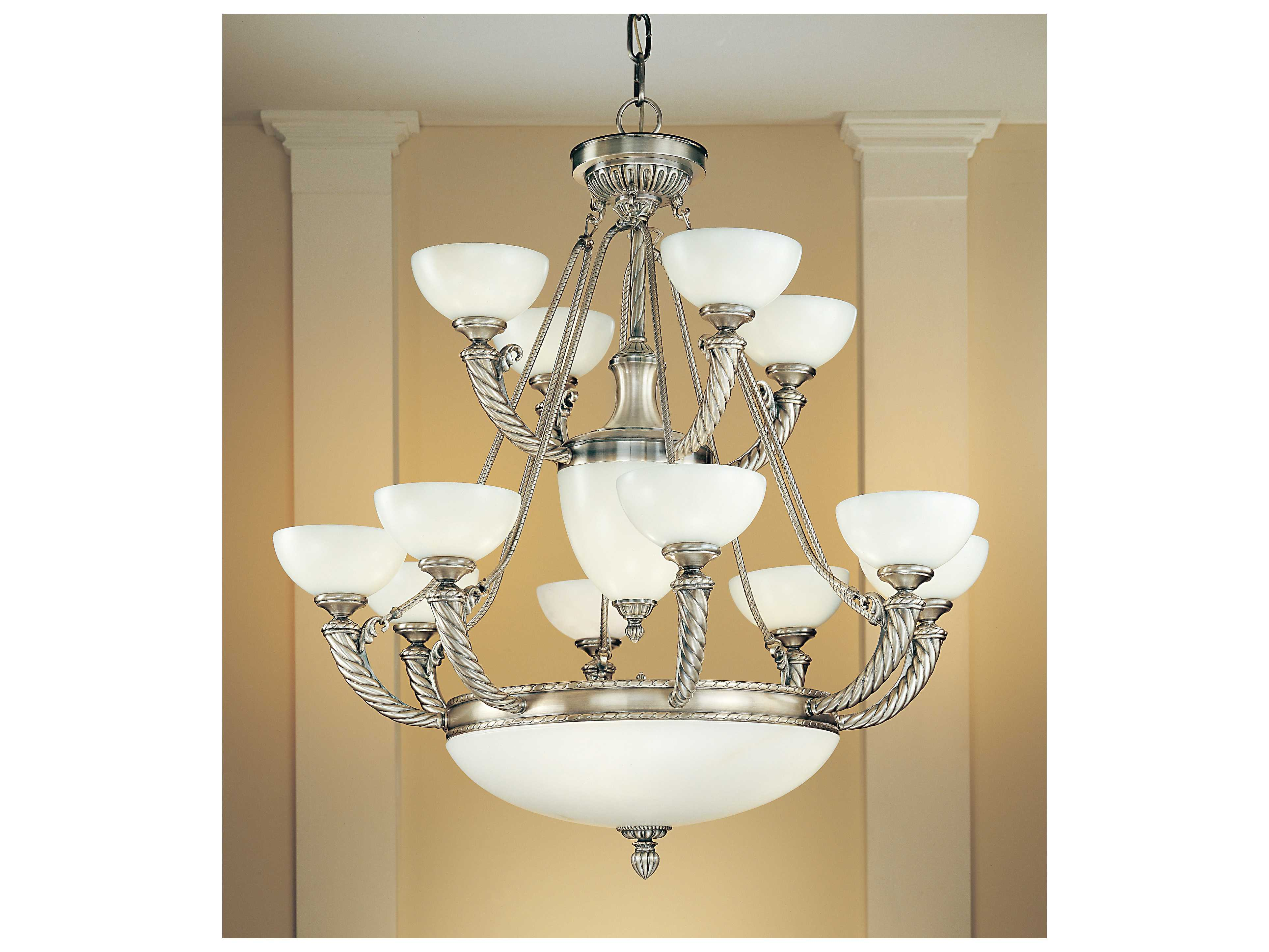 Progress Lighting Riverside Collection 4 Light Heirloom: Classic Lighting Corporation Alhambra Silver Oxide 17