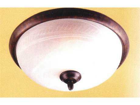 Classic Lighting Corporation Alpha Three-Light Flush Mount Light C868900EB