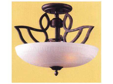 Classic Lighting Corporation Alpha Three-Light Semi-Flush Mount Light C868901EB