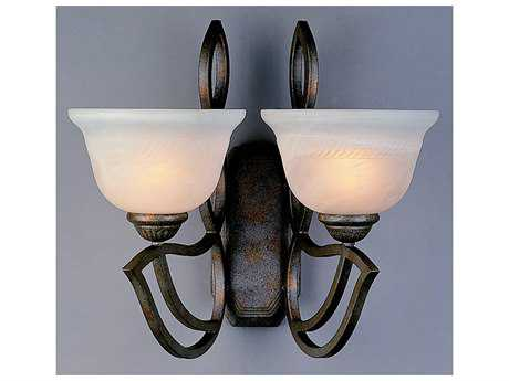 Classic Lighting Corporation Alpha English Bronze Two-Light Wall Sconce C868902EB