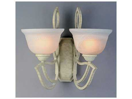 Classic Lighting Corporation Alpha Sand White Two-Light Wall Sconce C868902SW