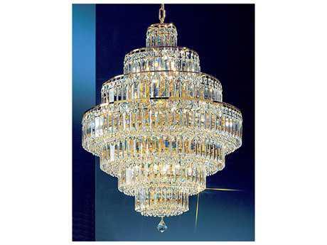 Classic Lighting Corporation Ambassador 24k Gold Plate 18-Light 26'' Wide Grand Chandelier