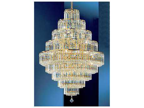 Classic Lighting Corporation Ambassador 24k Gold Plate 30-Light 30'' Wide Grand Chandelier