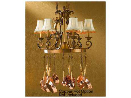 Classic Lighting Corporation Asheville Copper Bronze Seven-Light Island Light C892207CPB