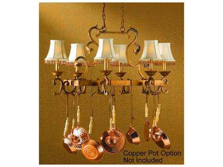 Classic Lighting Corporation Asheville Copper Bronze Six-Light Island Light C892208CPB