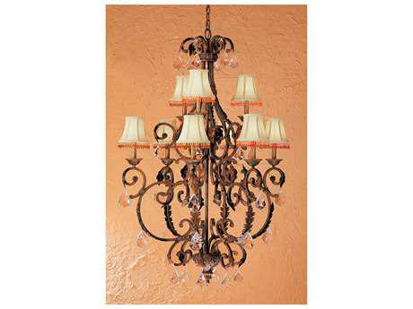 Classic Lighting Corporation Asheville Copper Bronze Nine-Light 36 Wide Grand Chandelier C892209CPBCP